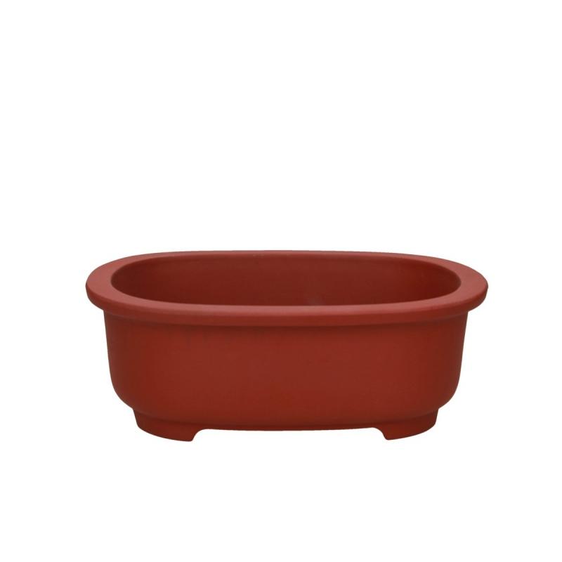Vaso 24.5 cm ovale gres ruggine