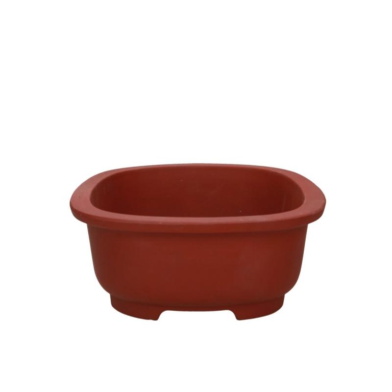 Vaso 27 cm ovale gres ruggine