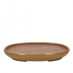 Vaso 24 cm ovale giallo