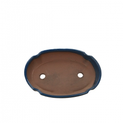 Pot 21 cm oval blue