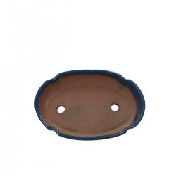 Pot 21 cm ovale bleu