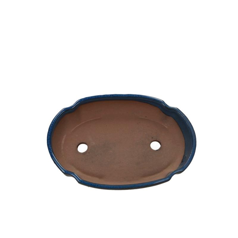 Pot 21 cm oval blue