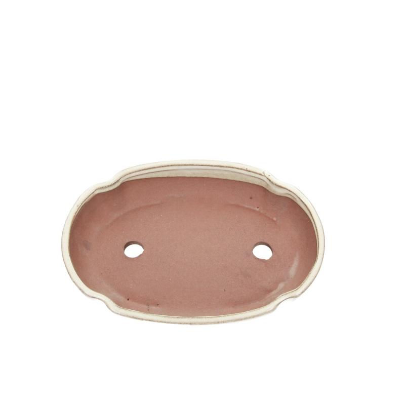 Pot 21 cm ovale beige