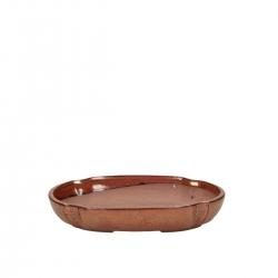 Pot 21 cm oval rust