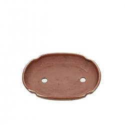 Pot 21 cm ovale rouille