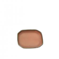 Saucer 14,5 cm octagonal green