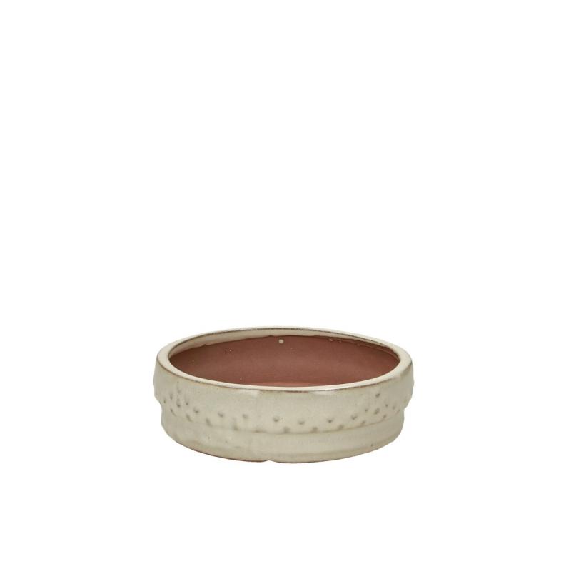 Vaso 15,5 cm tondo beige