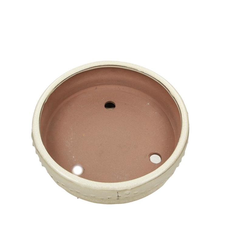 Pot 21 cm round beige