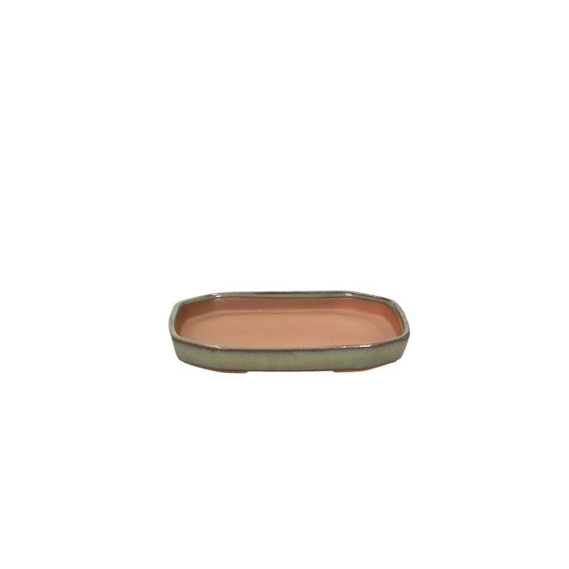 Soucoupe 14,5 cm octogonal vert