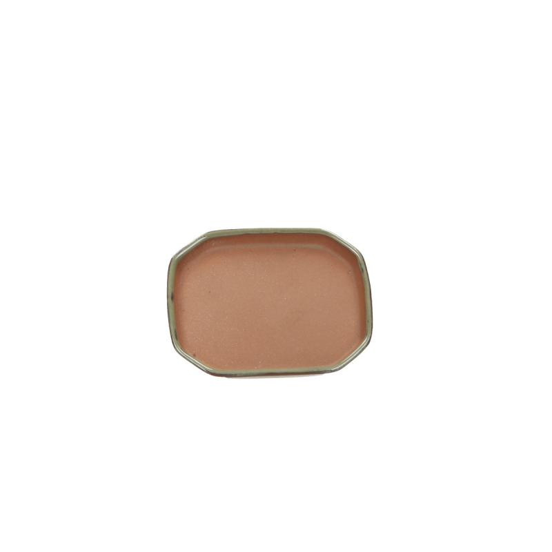 Saucer 12 cm octagonal green
