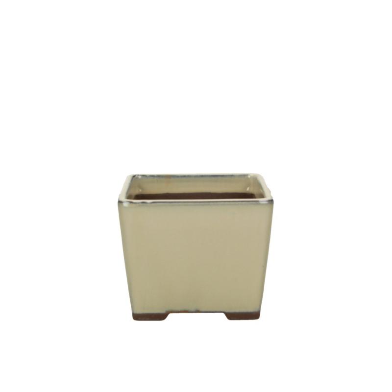 Pot 13 cm carré beige