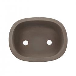 Pot 24.5 cm ovale grès gris