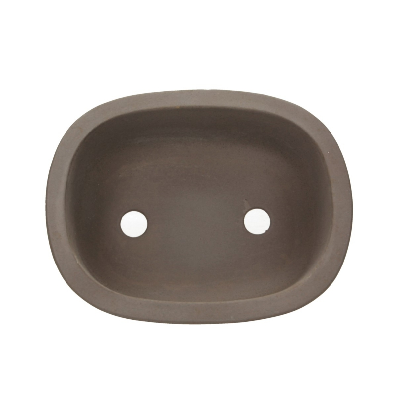 Vaso 24.5 cm ovale grès grigio