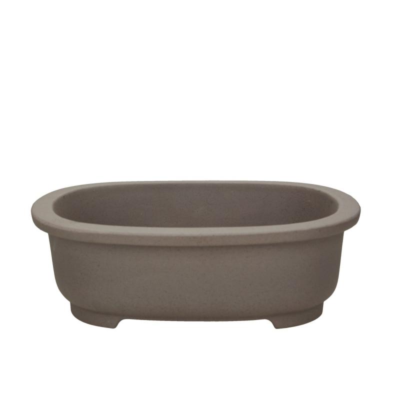Vaso 27 cm ovale grès grigio