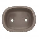 Pot 27 cm ovale grès gris