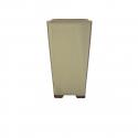 Pot 11.8 cm carré beige