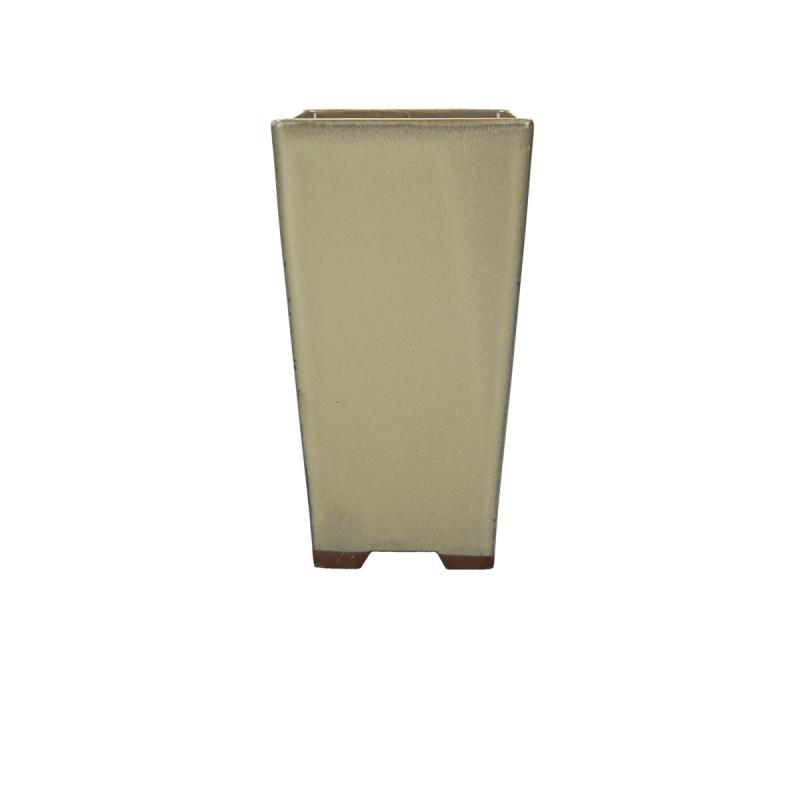 Vaso 11.8 cm quadrato beige