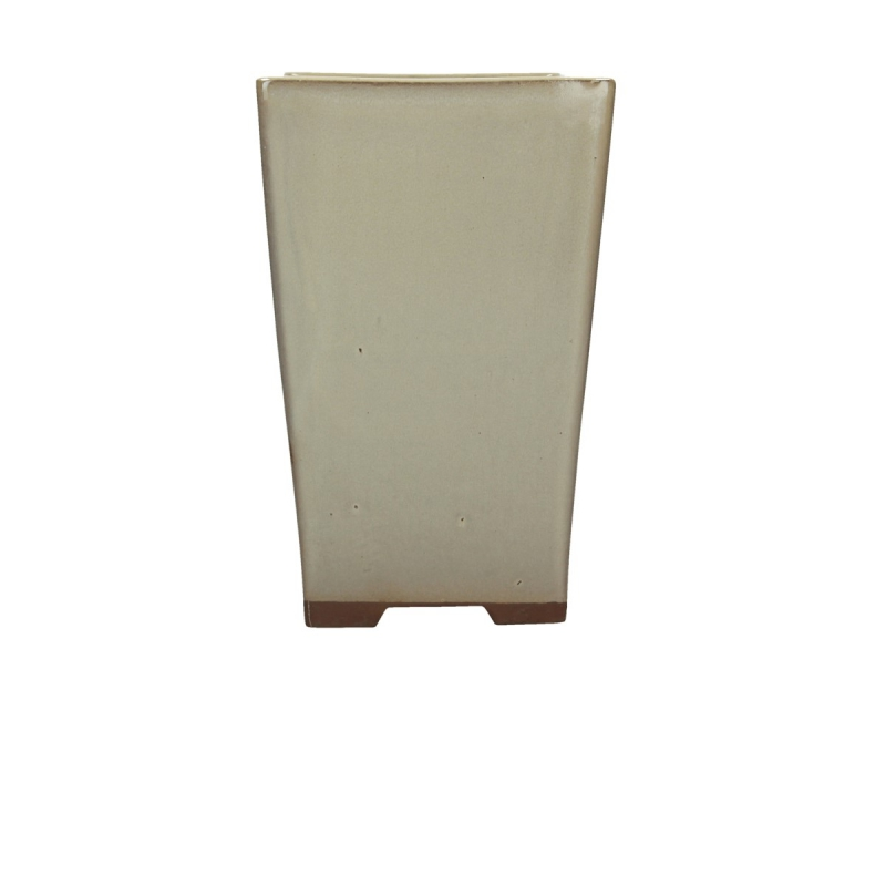 Vaso 14.5 cm quadrato beige