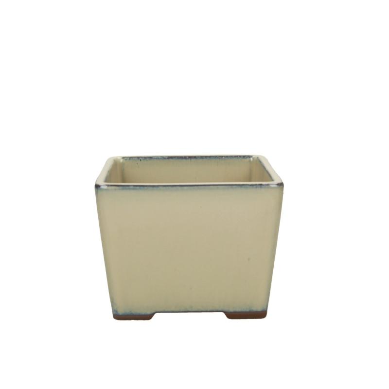 Pot 15.6 cm carré beige