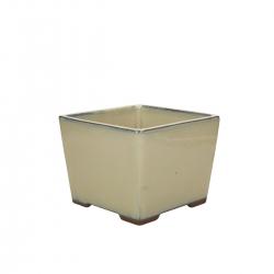 Vaso 15.6 cm quadrato beige