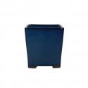 Vaso 15 cm quadrato alto blu