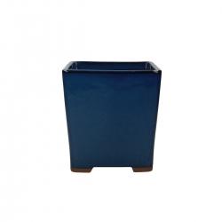 Pot 15 cm square blue