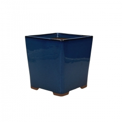 Pot 15 cm carré bleu