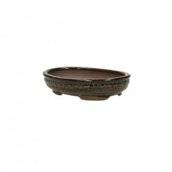 Pot 15 cm oval green