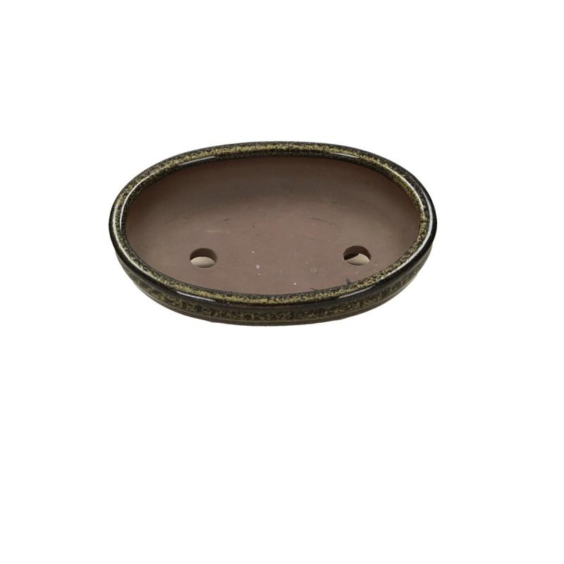 Pot 15 cm ovale vert