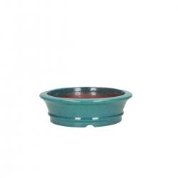 Vaso 14  cm tondo azzurro