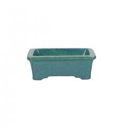 Pot 10.5 cm rectangular light blue