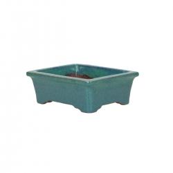 Vaso 10.5 cm rettangolare azzurro