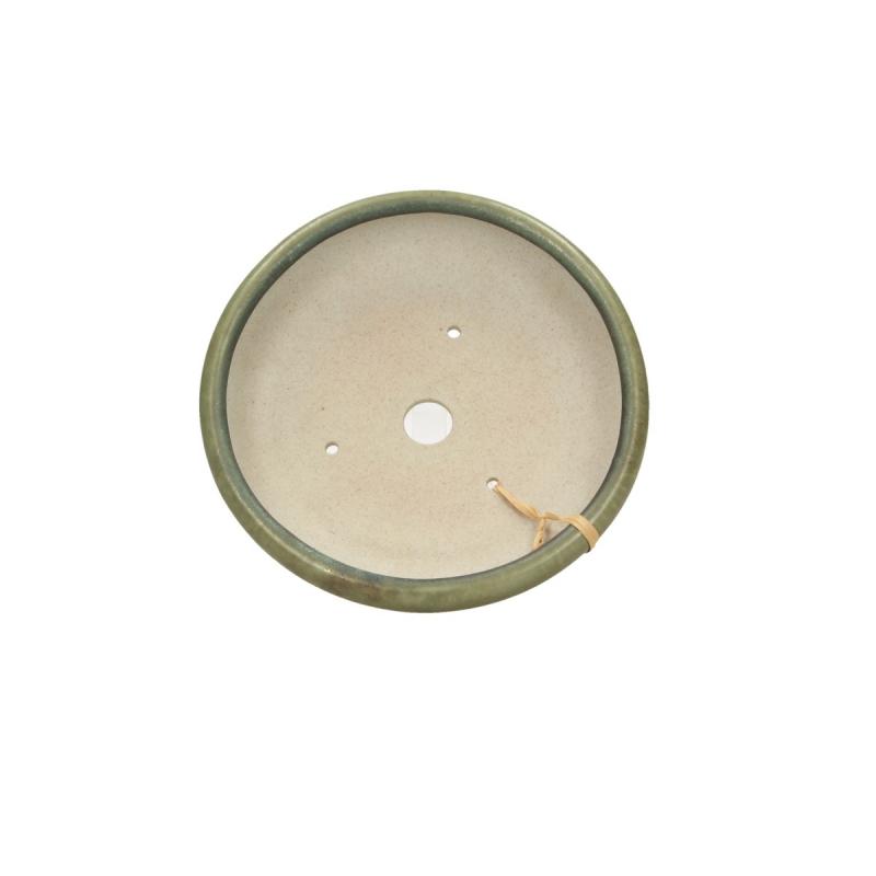 Vaso 13 cm tondo verde - Shuiming