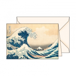 Carte de voeux  Ukiyo-e Vague