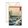 Carte de voeux Ukiyo-e Mer