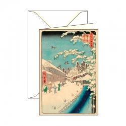 Biglietto d'auguri Ukiyo-e Neve