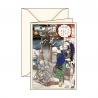 Carte de voeux Ukiyo-e Hiver