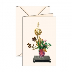 Biglietto d'auguri Ikebana 3