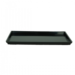 Saucer 33 cm rectangular PVC black