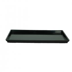 Soucoupe 33 cm rectangulaire PVC noir