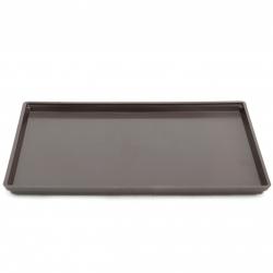 Saucer 33 cm rectangular PVC brown