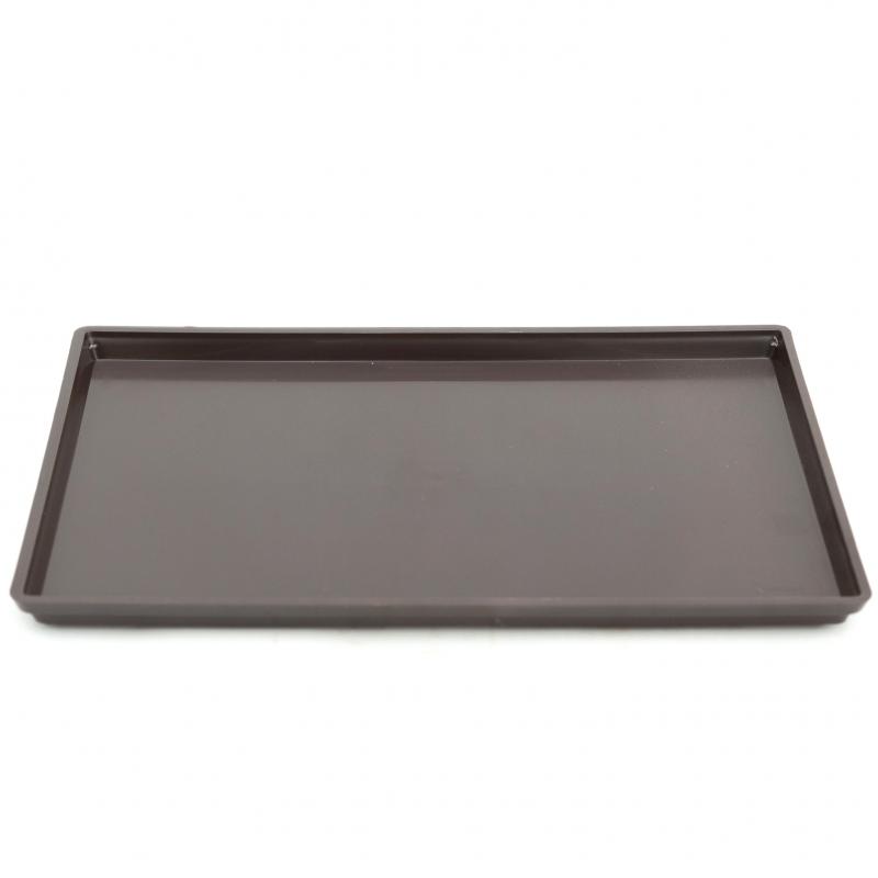 Soucoupe 33 cm rectangulaire PVC brune