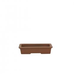 Pot 17 cm rectangular unglazed grès