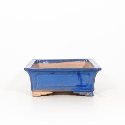 Vaso 31 cm rettangolare blu