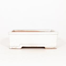 Pot 26 cm rectangulaire beige