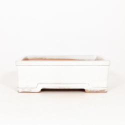 Pot 26 cm rectangular beige
