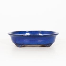 Pot 31 cm oval blue