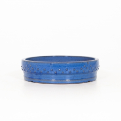 Pot 24 cm round blue
