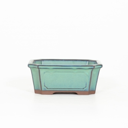 Pot 14,5 cm rectangular green