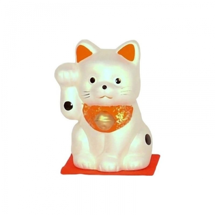 Gatto portafortuna Maneki neko - perlato